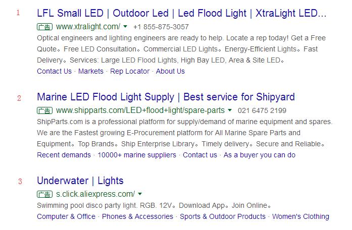 Google推广排名竞争示意图